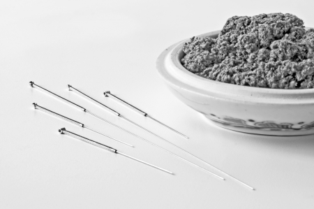 acupuncture needles photo