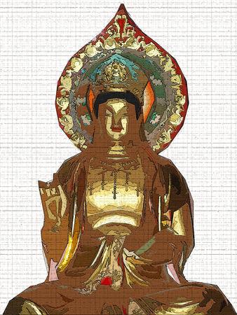 positiv: Buddha  Stock Photo