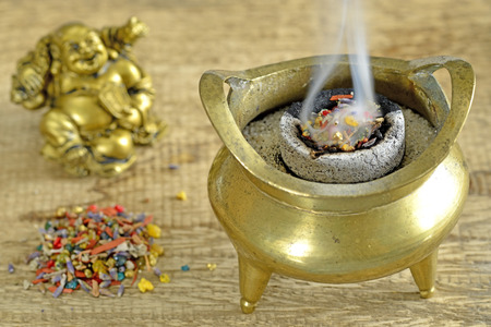 Chinese incense pot photo