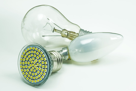 forbade: Light bulbs, old and modern LED