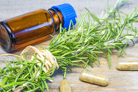 tincture: rosemary with tincture Stock Photo