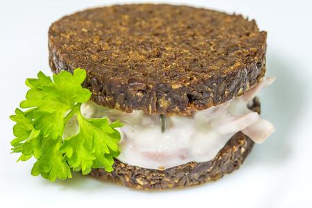 pumpernickel: Pumpernickel with meat salad