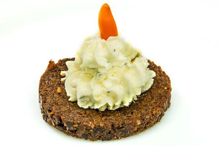 pumpernickel: Pumpernickel with cream cheese