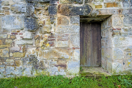 the abbey: old, medieval abbey wall Stock Photo