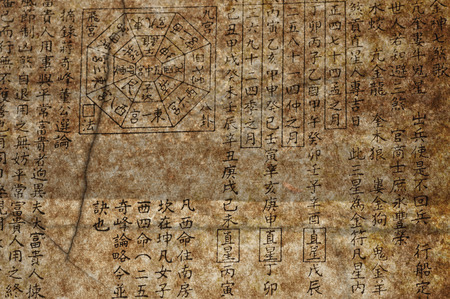 old chinese feng shui text