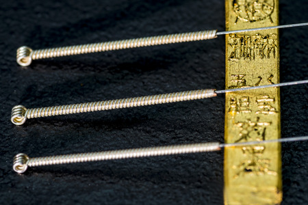 acupuntura china: aguja de acupuntura