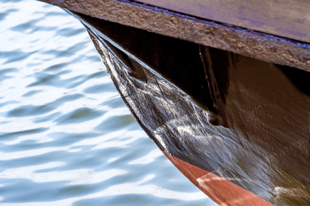 ship bow: Old wooden ship bow Stock Photo