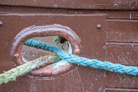 trawler: Mooring line of a trawler