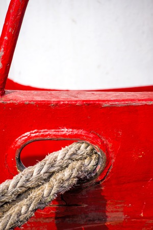 the mooring: Mooring line of a trawler