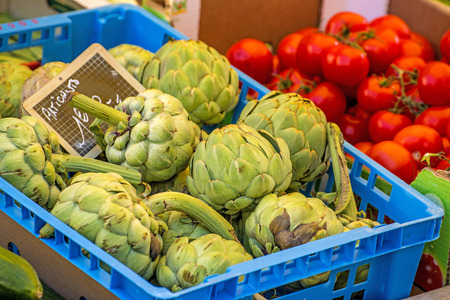 mediterrean: artichoke  at a farmer market in France