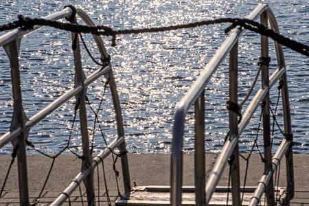 gangway: Gangway in a port Stock Photo