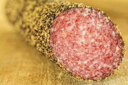 pepper salami: salami with pepper