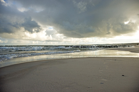 baltic sea: Baltic Sea with stormy weather
