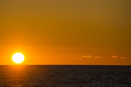 baltic sea: sunset over the Baltic Sea Stock Photo