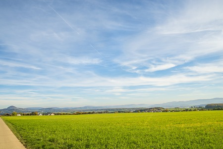 idyll: country idyll with view to German highlands Stock Photo