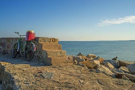 baltic sea: Bicycle at the Baltic Sea