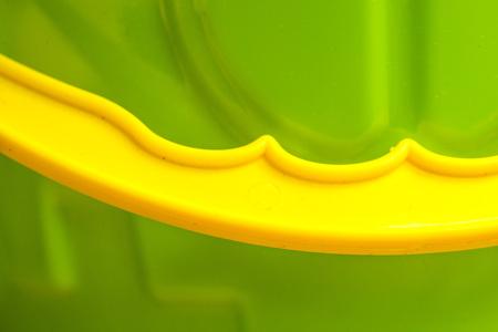 garish: Bucket with handle