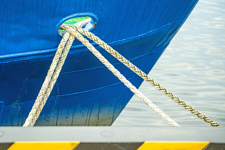 Mooring lines of a trawler Stok Fotoğraf - 48510074
