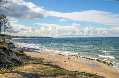 Baltic Sea in Poland, beach of Orzechowo, Poland