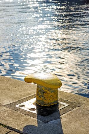 bollard: Bollard at a pier