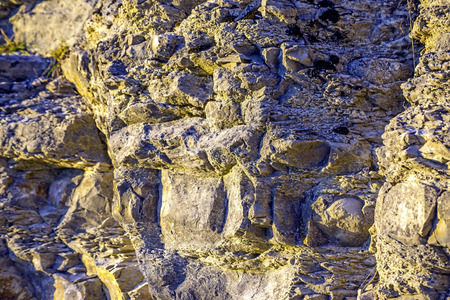 rupture: Jura limestone shifts of the Swabian Alb in Germany Stock Photo