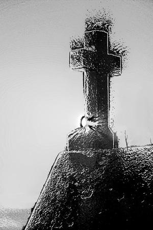 evangelical: Cross in back light