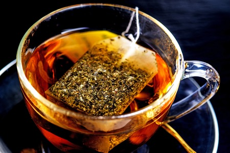 teabag: Tea with teabag Stock Photo