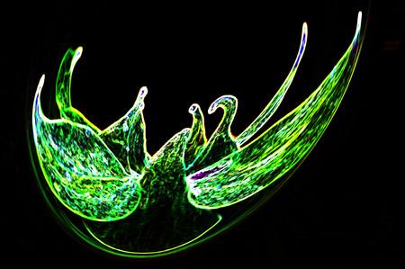 swans: Colombine flower, dancing swans