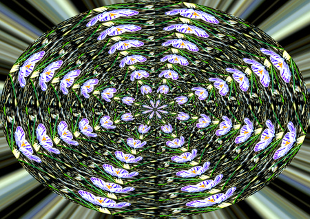 energetically: spiral in green and white Stock Photo
