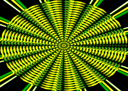 energetically: spiral in yellow and black Stock Photo
