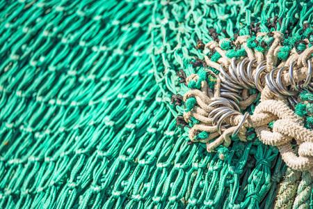 net: green fishing net Stock Photo