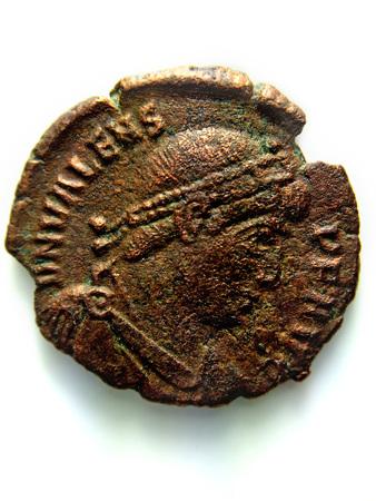 antique Roman copper coin