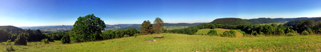 burren: Panoramic view of the Celtic grave hill Burren to the South of  Germany Stock Photo
