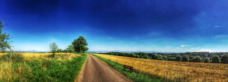 swabian: panoramic view to the Swabian highlands in Germany