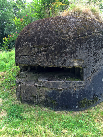 flak: Bunker of ww2 in France, Alsace Stock Photo