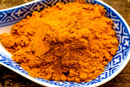 naturopathy: turmeric powder on a spoon