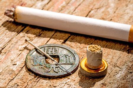 Acupuncture for smoking cessation Foto de archivo