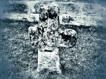 atonement: penitence cross in retro style