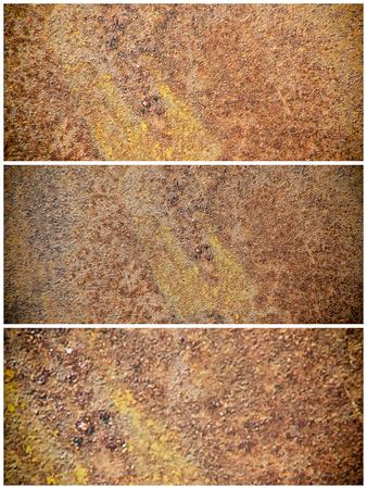 tin: rusty tin in frames Stock Photo