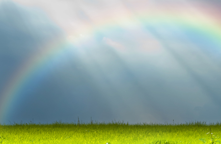 shafts: shafts of sunlight with rainbow