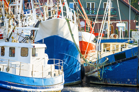 fishing cutter in the port of Ustka, Poland