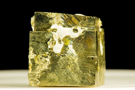 Pyrit, closeup of the gemstone