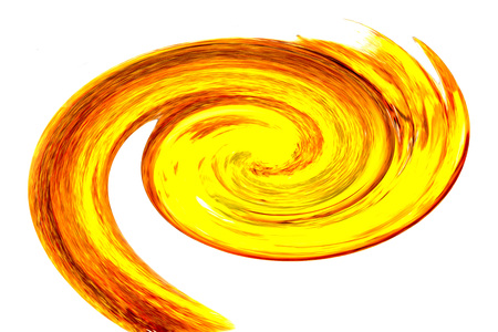 colorful spiral in red and yellow