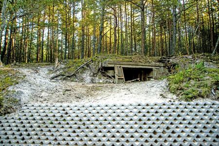 Bunker of ww2 in Poland Reklamní fotografie
