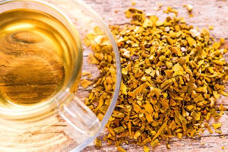mistletoe, medicinal herb dried with tea
