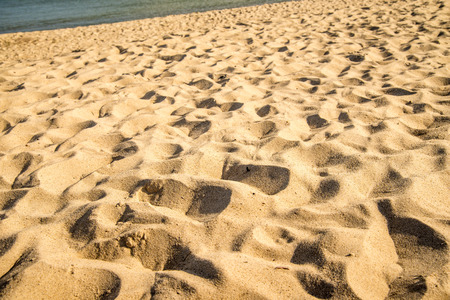 Sand of a beach with patterns