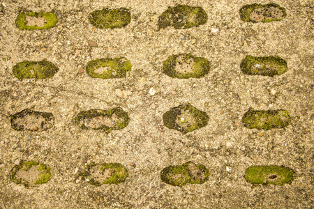 wall of concrete with hole pattern Standard-Bild - 119602940