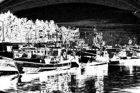 Fishing port of Ustka, Poland