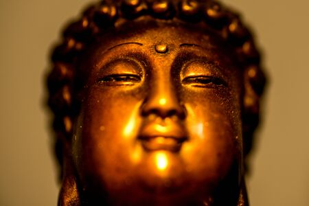 Indian Buddha in deep meditation