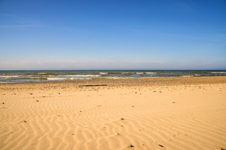 lonesome, unaffected beach of the Baltic Sea in Poland